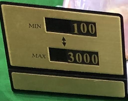 テーブルリミット、table limit